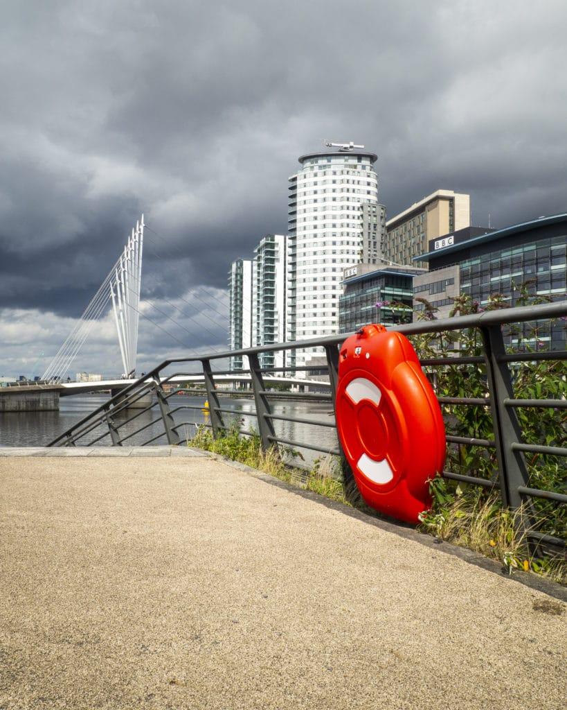 Lifebuoy at Media City, Salford Quays, Manchester