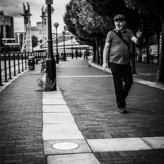 Vlogging. An Image taken at Media City, Salford Quays, Manchester