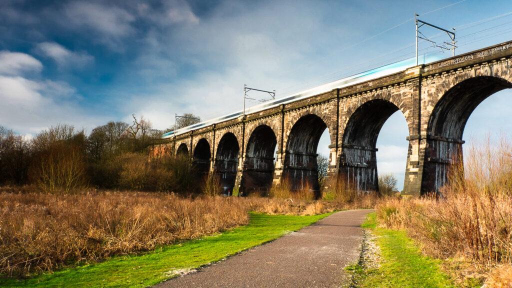The Sankey Viaduct in Merseyside